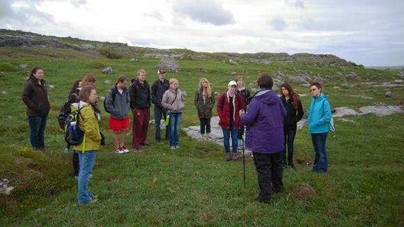 At The Burren, County Clare, Ireland (UMM Study Abroad Trip)