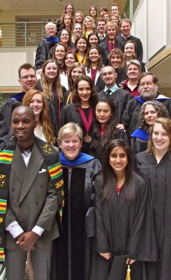 Biology Graduates and Faculty May 10, 2014