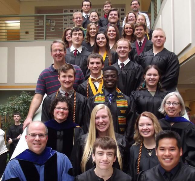 Chemistry Graduates and Faculty, May 14, 2016