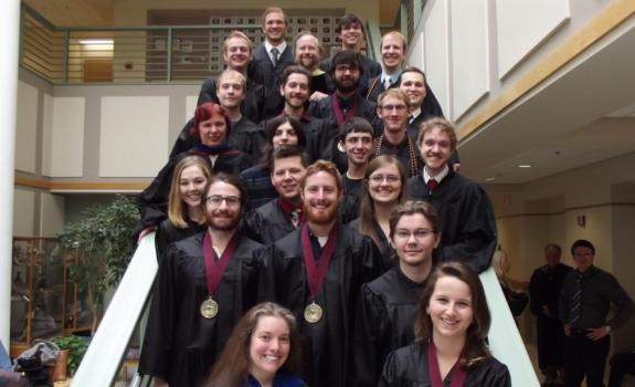 Computer Science Graduates and Faculty, May 14, 2016