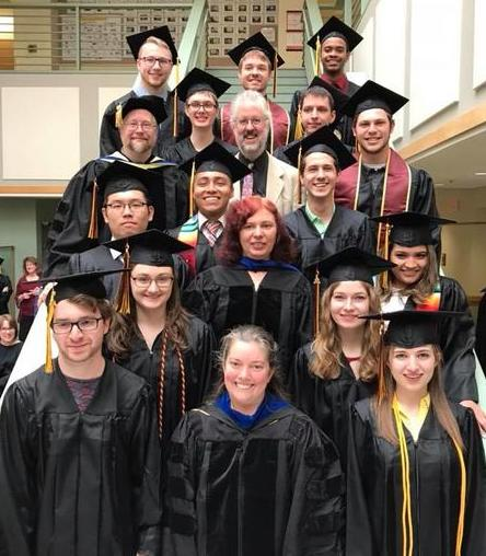 computer science grads and faculty
