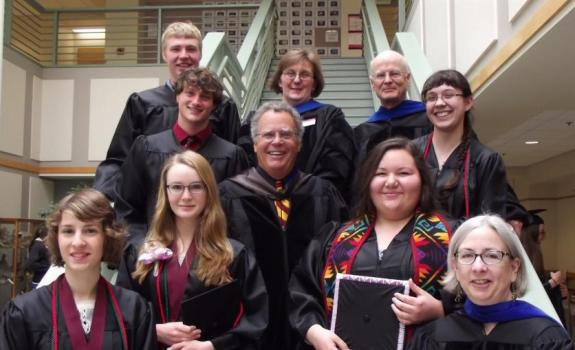 Environmental Science Graduates and Faculty, May 14, 2016