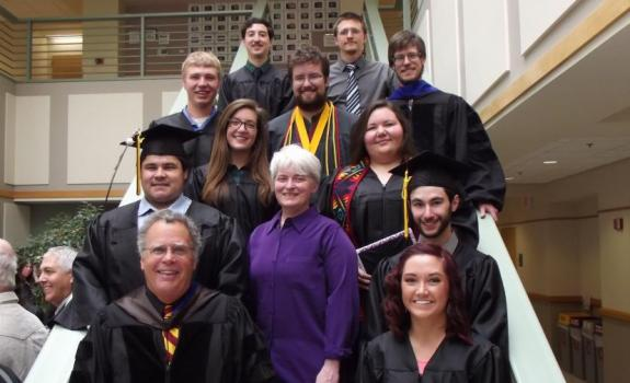 Geology Graduates and Faculty, May 14, 2016