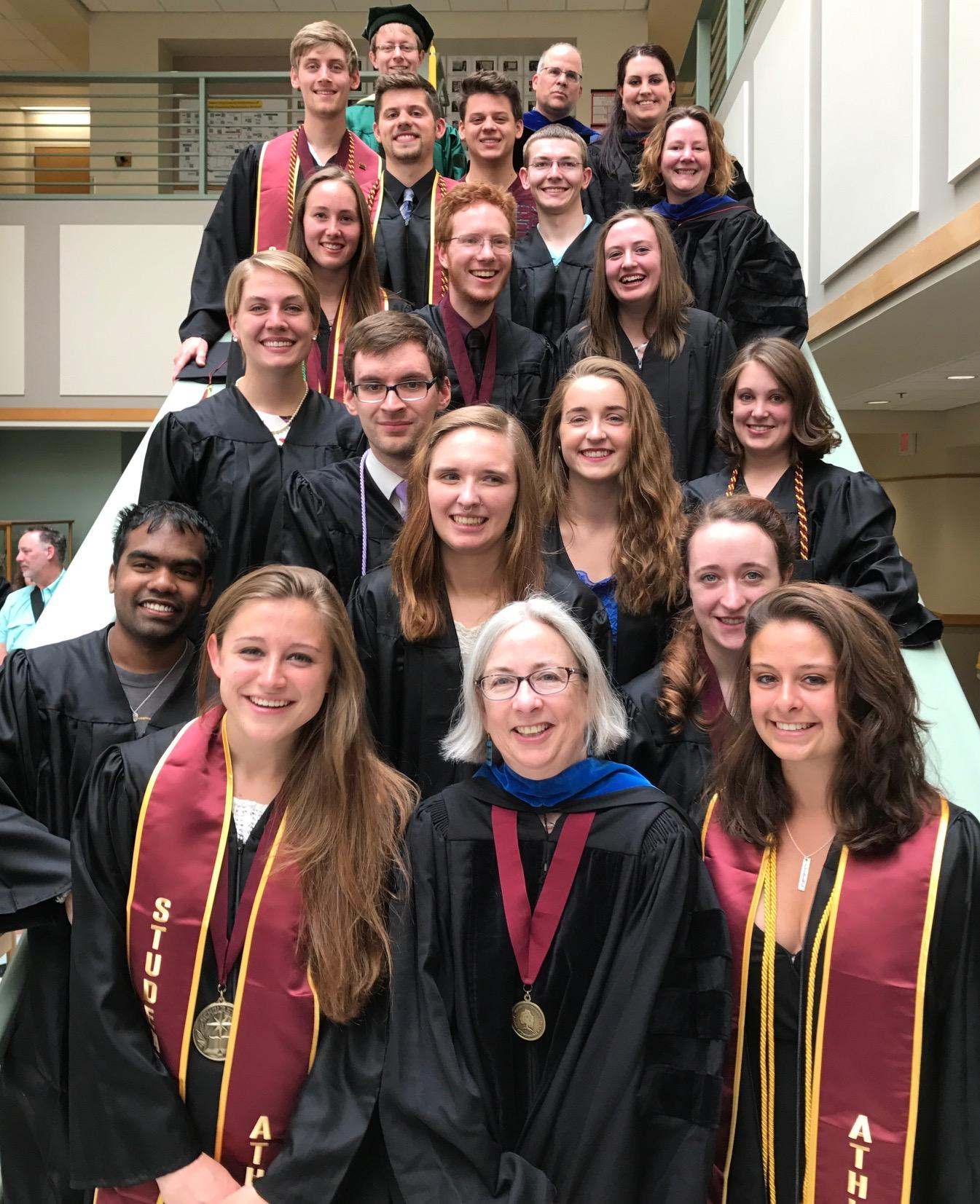 Chemistry Graduates and Faculty, May 13, 2017