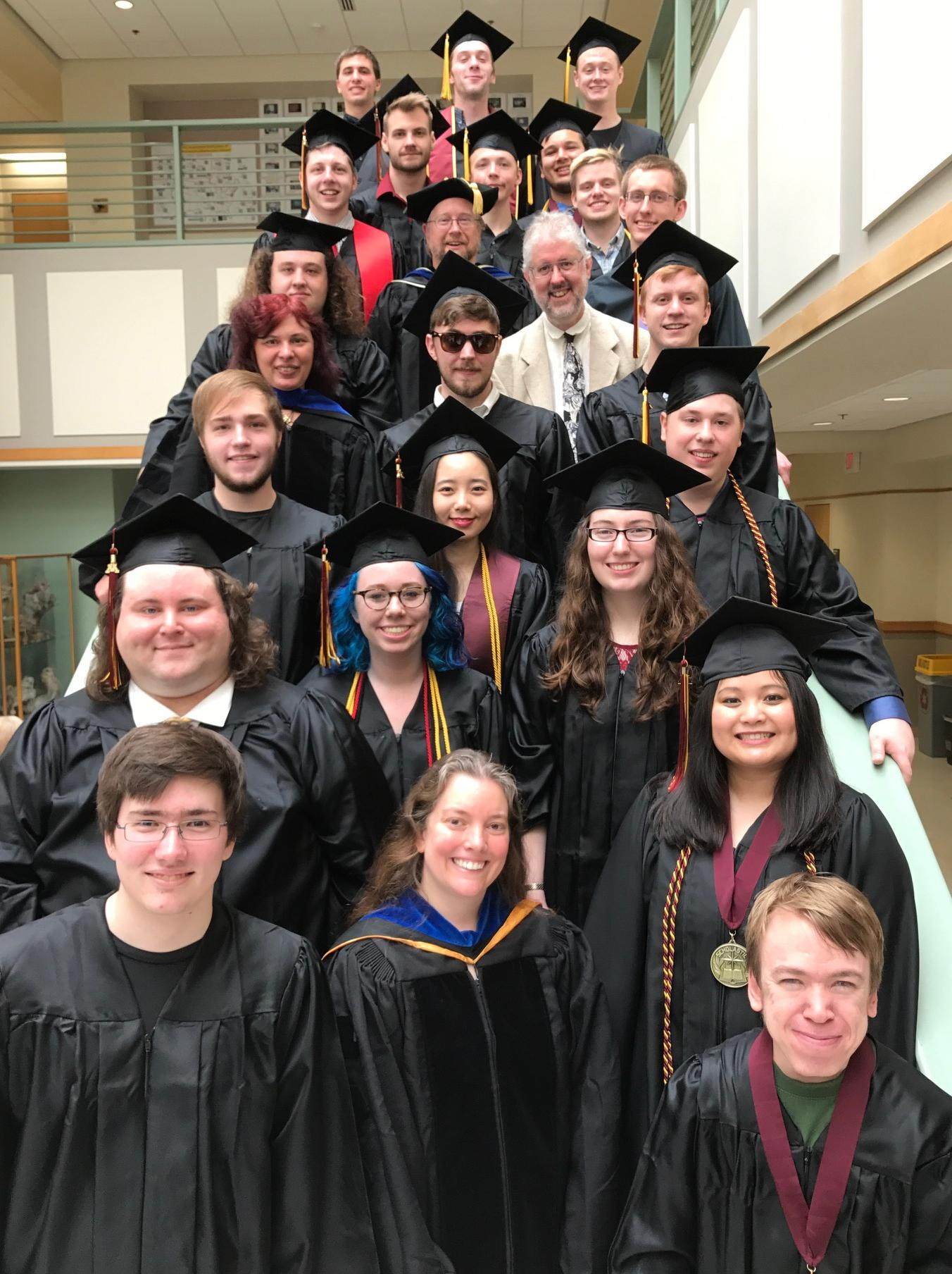 Computer Science Graduates and Faculty, May 13, 2017