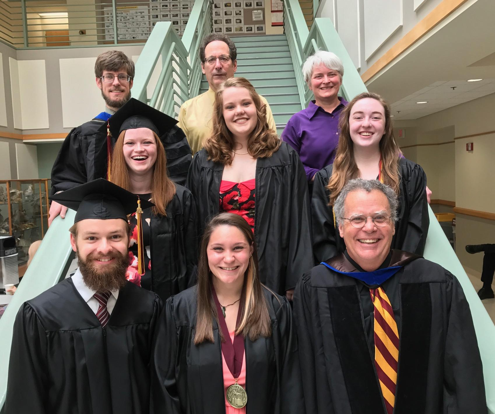 Geology Graduates and Faculty, May 13, 2017