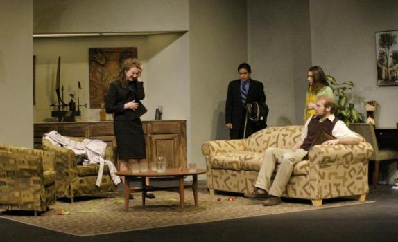 Four actors onstage