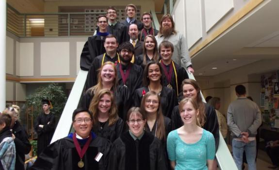 Math Graduates and Faculty, May 14, 2016