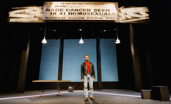 An actor onstage