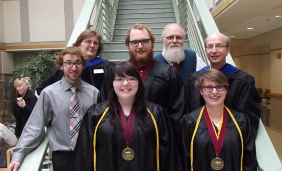Physics Graduates and Faculty, May 14, 2016