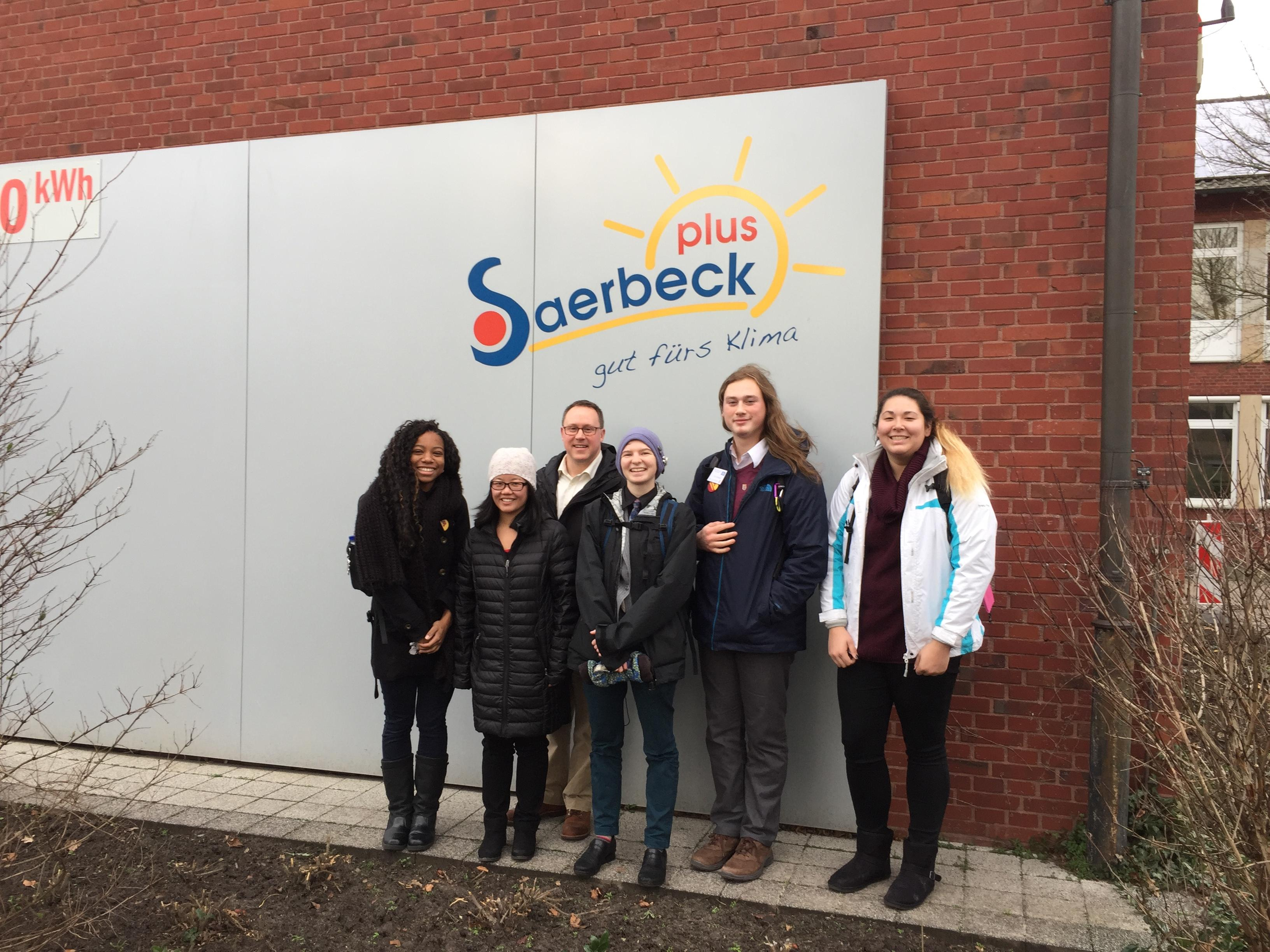 UMN Morris students and staff in Saerbeck, Germany