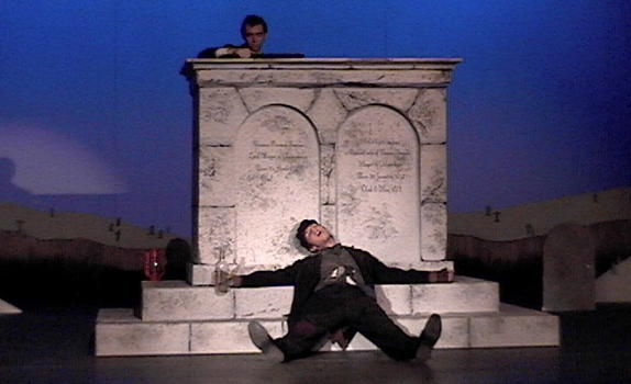 Two actors onstage