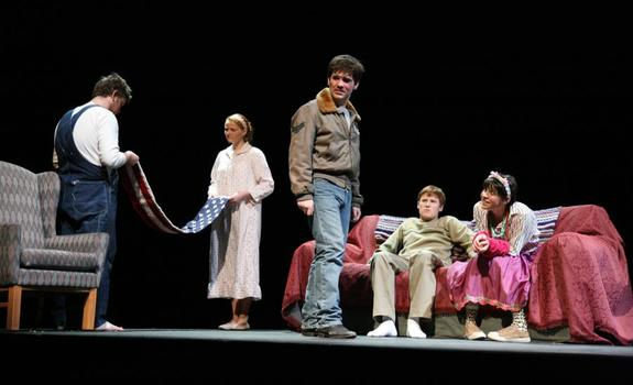 A group of actors onstage