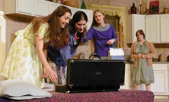Four actresses onstage