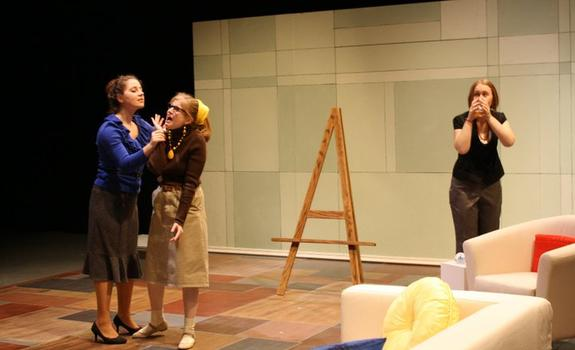 Three actresses onstage